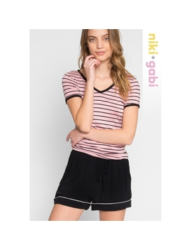 So Right Piping Lounge Shorts by Wet Seal