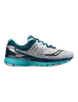 Saucony Women's Everun Hurricane Iso 3 Running Shoes   White/Teal by Sport Chek