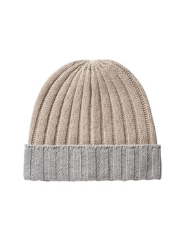 Oatmeal / Light Grey Beanie by Suitsupply