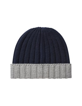 Navy / Light Grey Beanie by Suitsupply