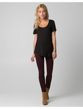 Jersey Scoop Neck Top by Le Chateau