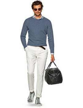 Light Blue Crewneck by Suitsupply