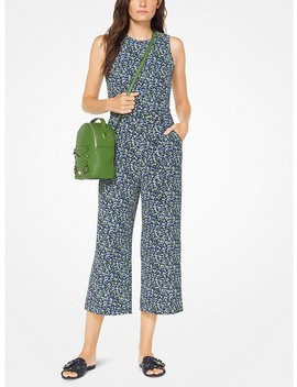 Floral Crepe Belted Jumpsuit by Michael Michael Kors