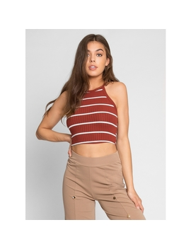 Game On Stripe Knit Top by Wet Seal