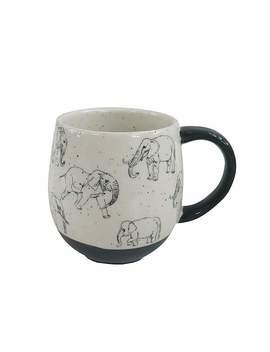 Grey Elephant Mug by Dunelm
