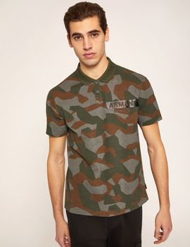 Geo Camo Stenciled Polo by Armani Exchange