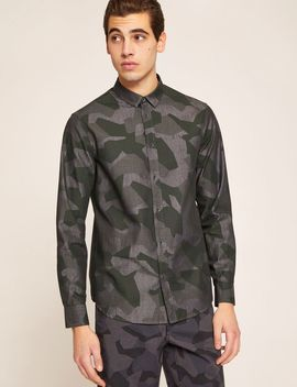 Regular Fit Geo Camo Shirt by Armani Exchange