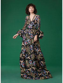 Puff Sleeve Maxi Wrap Dress by Dvf
