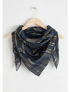 Metallic Triangle Scarf by & Other Stories