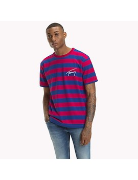 Tommy Jeans Xplore Signature Stripe T Shirt by Tommy Hilfiger