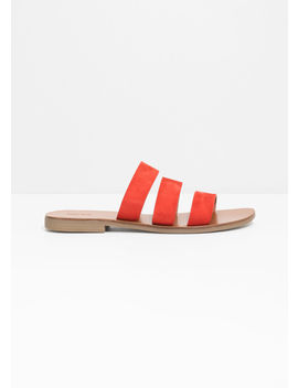 Trio Suede Strap Sandals by & Other Stories