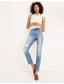 The Tall High Rise Slim Boyjean In Lita Wash: Step Hem Edition by Madewell