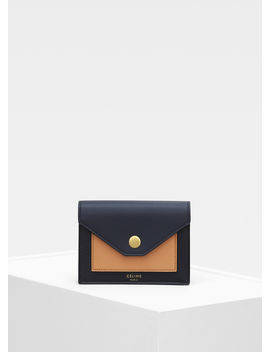Pocket Card Holder In Multicolour Shiny Smooth Calfskin by Celine