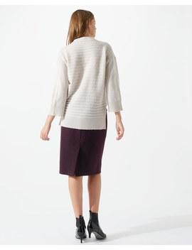 Boiled Wool Pencil Skirt by Jigsaw