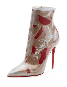 So Kate Paper Collage Red Sole Bootie by Christian Louboutin