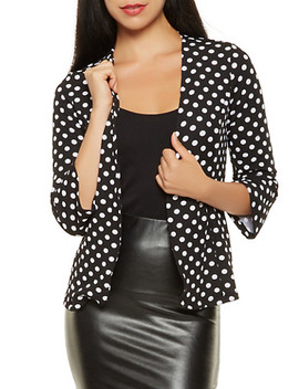 Polka Dot Open Front Blazer by Rainbow