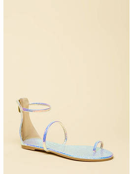 Simple Math Scaled Triple Strap Sandals by Go Jane