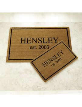 Personalized Estate Doormat by Ballard Designs