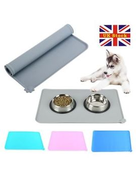 Silicone Puppy Dog Placemat Pet Cat Dish Bowl Feeding Food Water Mat Clean Uk by Ebay Seller