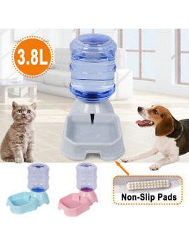 Large Automatic Gravity Pet Food Drink Dispenser Dogs Cats Waterer Feeder Bowl by Ebay Seller