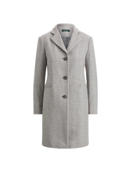 Herringbone Car Coat by Ralph Lauren