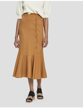 Mari Side Button Skirt by Farrow