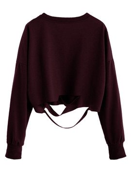 Drop Shoulder Cut Out Crop T Shirt by Sheinside