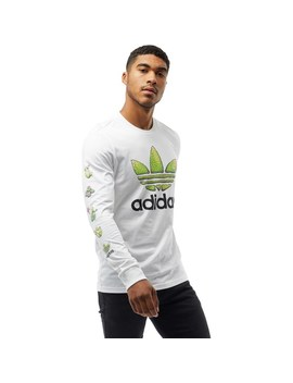 Adidas Originals Mens Cactus Long Sleeve T Shirt White by Mand M Direct