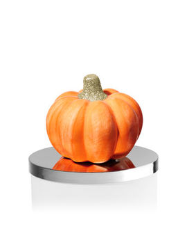 Ceramic Pumpkin   3 Wick Candle Magnet    by Bath & Body Works