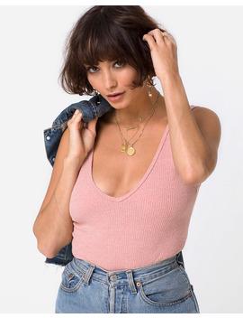 Segina Bodice In Knit Crinkle Rib Pink By Motel by Motel Rocks