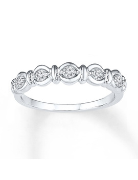 Diamond Ring 1/4 Ct Tw Round Cut Sterling Silver by Kay Jewelers