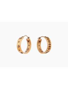 J'adior Earrings In Gold Tone Aged Metal by Dior
