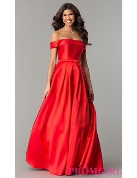 Off The Shoulder Ball Gown Style Prom Dress by Promgirl