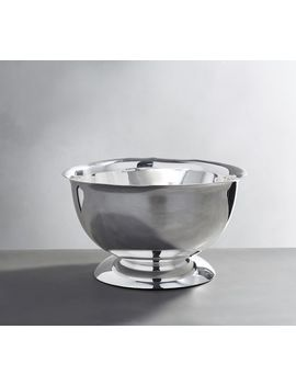 Polished Silver Footed Serve Bowl by Pottery Barn