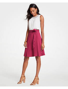 Belted Flare Skirt by Ann Taylor