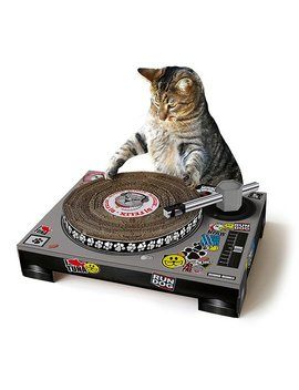 Dj Cat Scratching Pad by Uncommon Goods