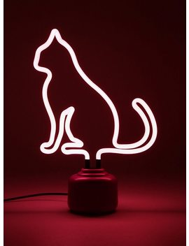 Neon Cat Lamp by Hot Topic