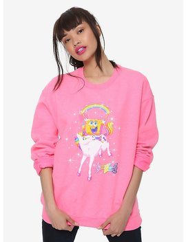 Lisa Frank X Sponge Bob Square Pants Unicorn Girls Sweatshirt Hot Topic Exclusive by Hot Topic
