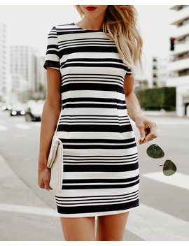 Leighton Striped Dress   Final Sale by Vici