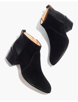 The Asher Boot In Suede And Leather by Madewell