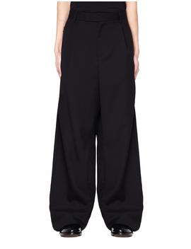 Wide Leg Wool Trousers by Yang Li