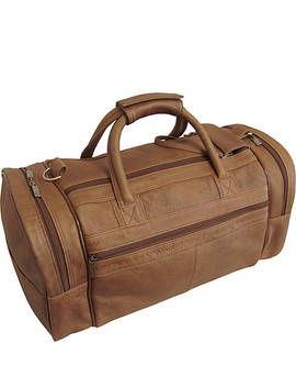 "20"" Leather Dual Zippered Duffel by Ameri Leather"