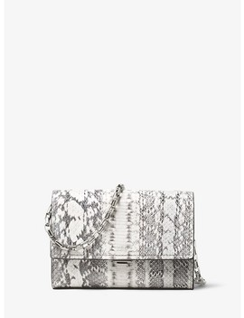 Yasmeen Small Snakeskin Clutch by Michael Kors Collection