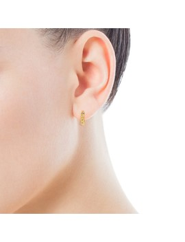 Gold Gem Power Earrings With Diamonds by Tous