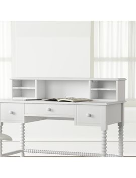 Kids Jenny Lind White Spindle Desk Hutch by Crate&Barrel