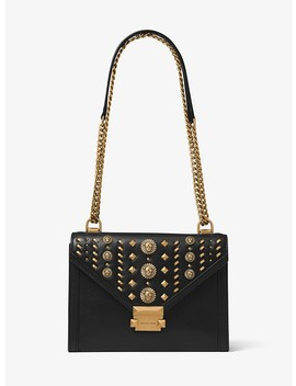 Whitney Large Embellished Leather Convertible Shoulder Bag by Michael Michael Kors