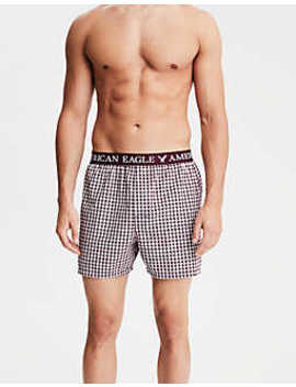 Aeo Haron Plaid Poplin Boxer by American Eagle Outfitters