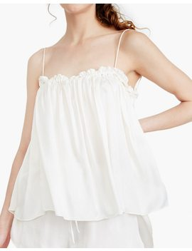 The Great Eros® Silk Dia Ruffle Tie Back Camisole by Madewell
