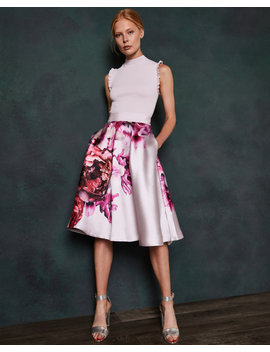 Splendour Ruffle Sleeve Dress by Ted Baker