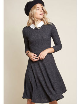 Perfectly Proper Knit Dress by Modcloth
